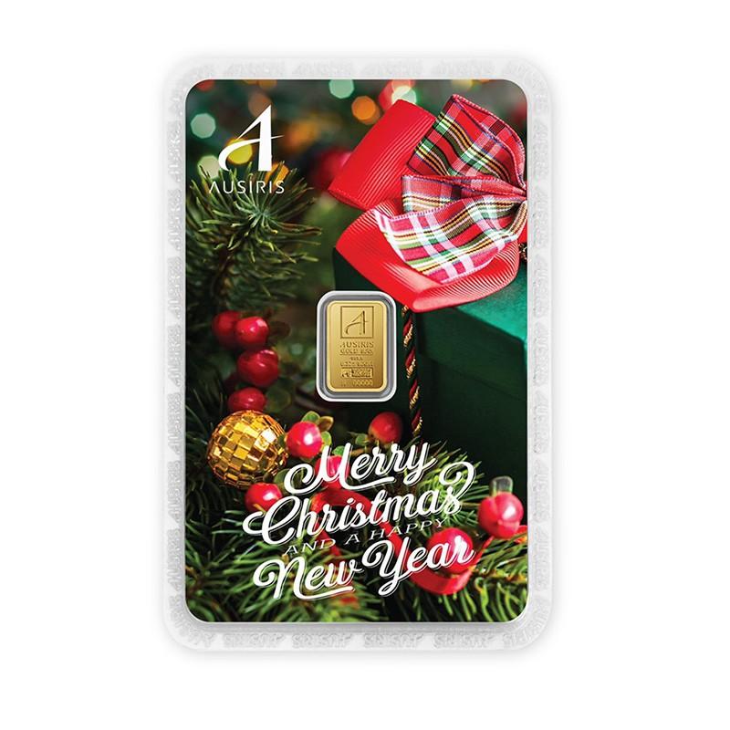 ทองคำแท่งครึ่งสลึง Merry Christmas & Happy New Year