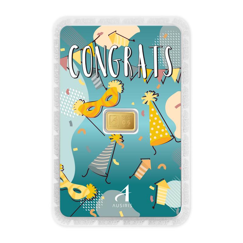 ทองคำแท่ง 0.6 กรัม Congrats