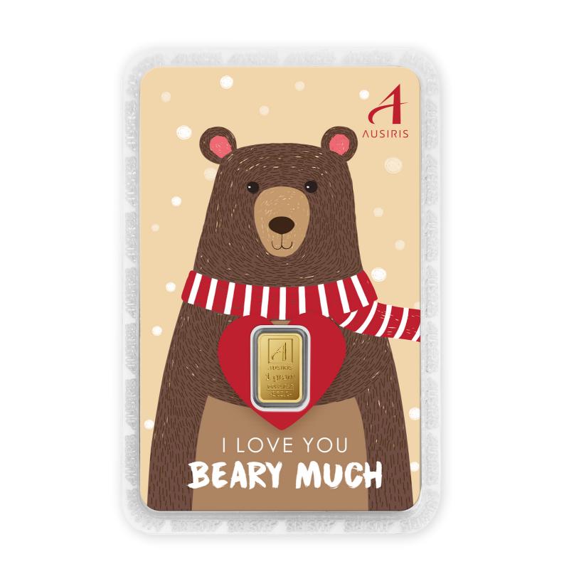 ทองคำแท่ง 1 กรัม I love you Beary much หมีน้ำตาล