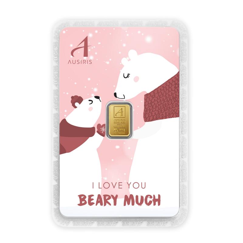 ทองคำแท่งครึ่งสลึง I love you Beary much