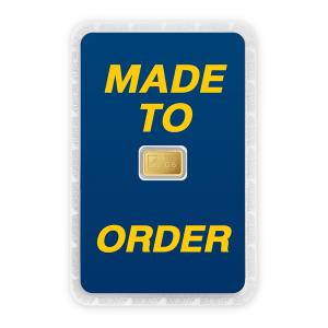 ทองคำแท่ง 0.6 กรัม ทองลายโลโก้ สั่งทำการ์ด Custom Card