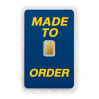 ทองคำแท่งครึ่งสลึง ทองลายโลโก้ สั่งทำการ์ด Custom Card