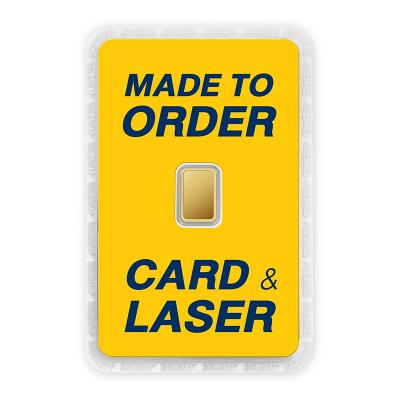 ทองคำแท่งครึ่งสลึง สั่งเลเซอร์หน้าทอง สั่งทำการ์ด Custom Card