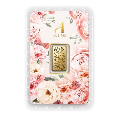 ทองคำแท่ง 1 สลึง For my Love การ์ดกุหลาบพีช