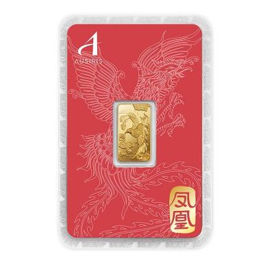 ทองคำแท่ง 1 สลึง ลายหงส์ การ์ดแดง