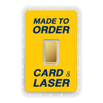 ทองคำแท่ง 1 สลึง สั่งเลเซอร์หน้าทอง สั่งทำการ์ด Custom Card