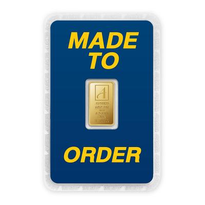 ทองคำแท่ง 1 สลึง ทองลายโลโก้ สั่งทำการ์ด Custom Card
