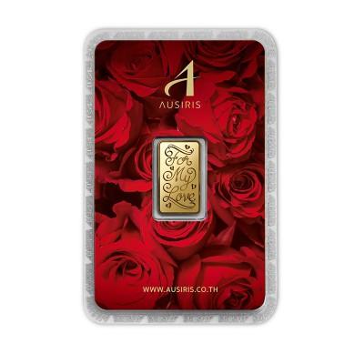 ทองคำแท่ง 1 สลึง For my Love (การ์ดกุหลาบแดง)