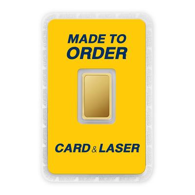ทองคำแท่ง 2 สลึง สั่งเลเซอร์หน้าทอง สั่งทำการ์ด Custom Card