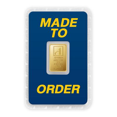ทองคำแท่ง 2 สลึง ทองลายโลโก้ สั่งทำการ์ด Custom Card