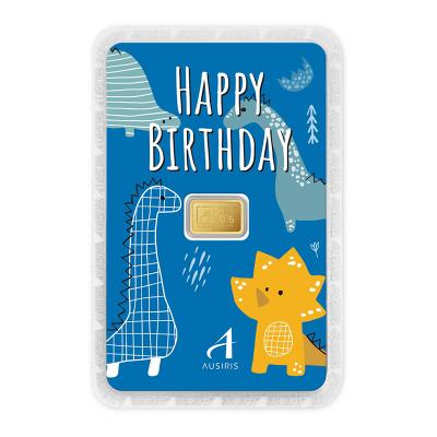 ทองคำแท่ง 0.6 กรัม Happy Birthday Little Dino