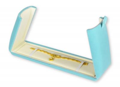 กล่องใส่ข้อมือยาว สีฟ้า