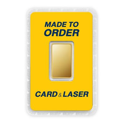 ทองคำแท่ง 1 บาท สั่งเลเซอร์หน้าทอง สั่งทำการ์ด Custom Card