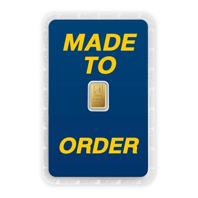 ทองคำแท่ง 1 กรัม ทองลายโลโก้ สั่งทำการ์ด Custom Card