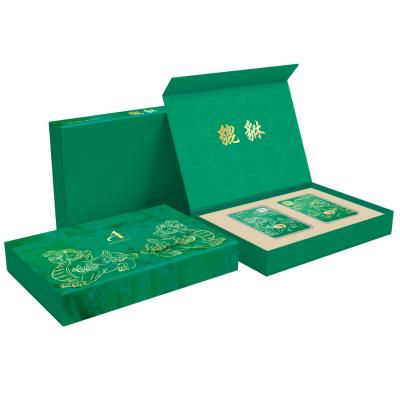 กล่องใส่ทองคำแท่งคู่ เซ็ทปี่เซี้ยะ สีเขียว
