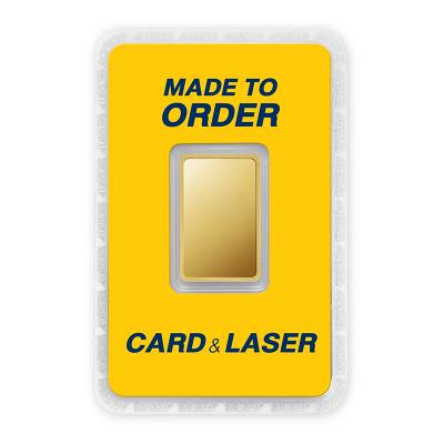 ทองคำแท่ง 2 บาท สั่งเลเซอร์หน้าทอง สั่งทำการ์ด Custom Card