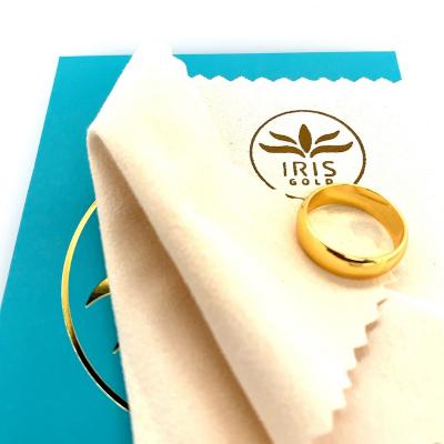 ผ้าเช็ดทำความสะอาดทอง แหวนทอง สร้อยทอง เครื่องประดับ