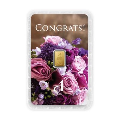 ทองคำแท่งครึ่งสลึง Congrats รับปริญญา