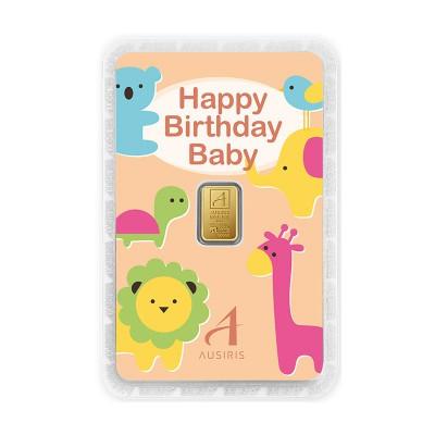ทองคำแท่งครึ่งสลึง Happy Birthday รับขวัญหลาน