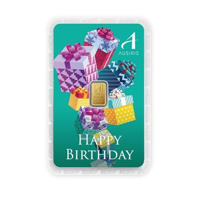 ทองคำแท่ง 1 กรัม สีประจำวันเกิด สีเขียว