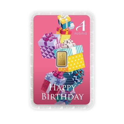 ทองคำแท่ง 1 กรัม สีประจำวันเกิด สีชมพู