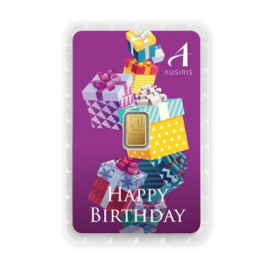 ทองคำแท่ง 1 กรัม สีประจำวันเกิด สีม่วง