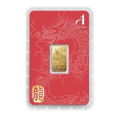 ทองคำแท่ง 1 สลึง ลายมังกร การ์ดแดง