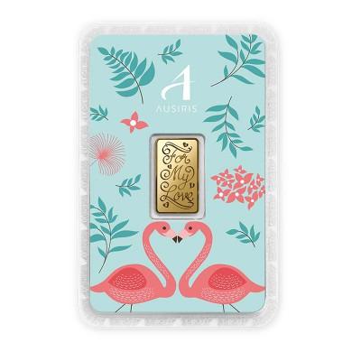 ทองคำแท่ง 1 สลึง For my Love การ์ดฟลามิงโก้เขียว