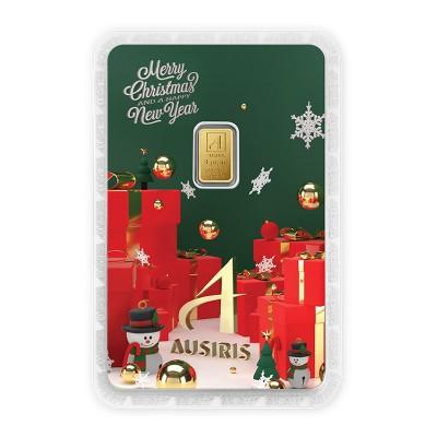 ทองคำแท่ง 1 กรัม Merry X'mas & HNY การ์ดเขียว-แดง