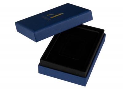 กล่องใส่ทองคำแท่งเดี่ยว สีน้ำเงิน