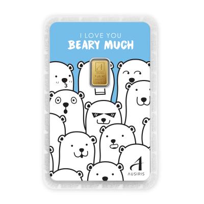 ทองคำแท่ง 1 กรัม I love you Beary much หมีขาว