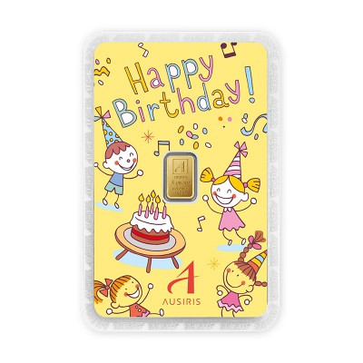 ทองคำแท่ง 1 กรัม Happy Birthday รับขวัญหลาน